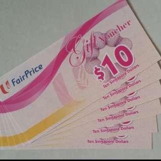 🚚 NTUC Vouchers value 120 for 110 cash