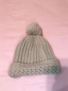 🚚 粗針織毛球毛帽