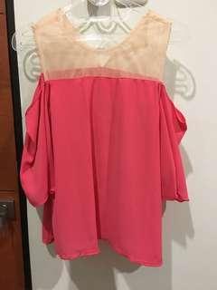 Pink Tille Top