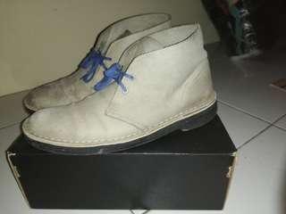 Clarks Desert Boots Nubuck Grey-Blue