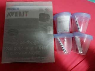 BN Avent thermabag and storage containers