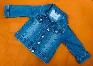 Denim Jacket for baby girl (12-18 months). Worn just twice for pictorial. RFS:Decluttering to make space for new ones.