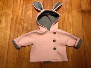 韓國童裝 Aosta 小兔子帽子外套 size 90cm
