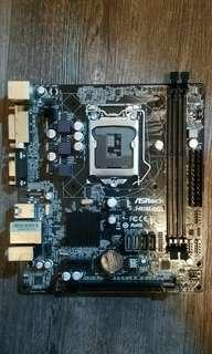 asrock h81m-dg4 motherboard 主板 電腦 底板 for intel 4th第四代 cpu用