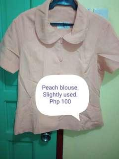 Peach ladies blouse