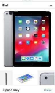 iPad 9.7 inch WiFi + 4G Space Grey 32GB (5th gen)
