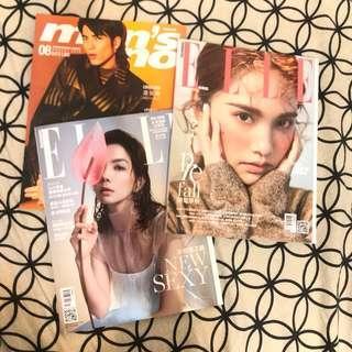 🚚 男人誌men's uno/ELLE 雜誌2018/7、8月號