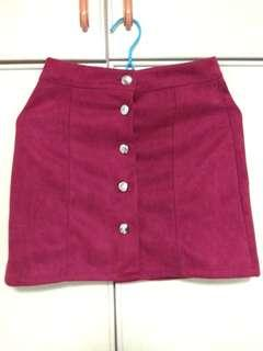 🚚 Skirt maroon-red color