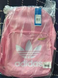 Adidas pink backpack 袋 書包 背囊