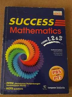Success Mathematics by Oxford Fajar Forms 1,2 & 3 》 PT3 Reference Book