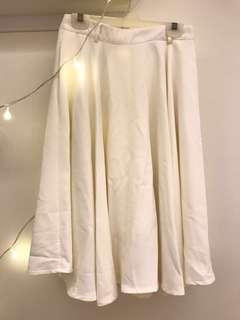 The tinsel rack white midi skirt
