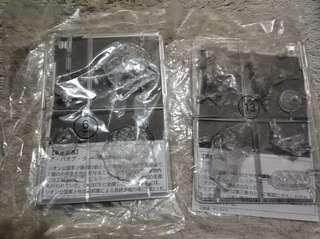 Gundam space colony  unassembled set of two
