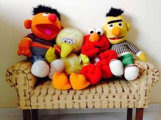 Sesame Street Collectibles with sitting bench