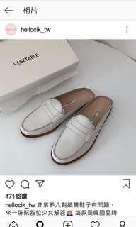 🚚 Vegetable 牛皮平底鞋 24 hellocik 穆勒鞋