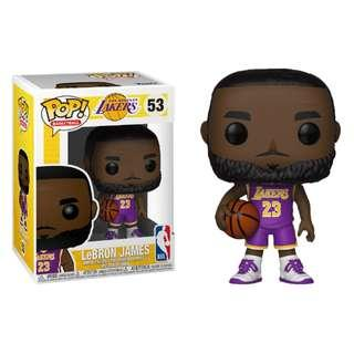 84b1b16f505 Funko Pop - NBA Basketball - LeBron James L.A. Lakers Purple Uniform