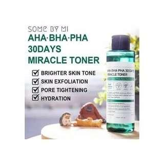 MIRACLE TONER AHA BHA SOME BY MI