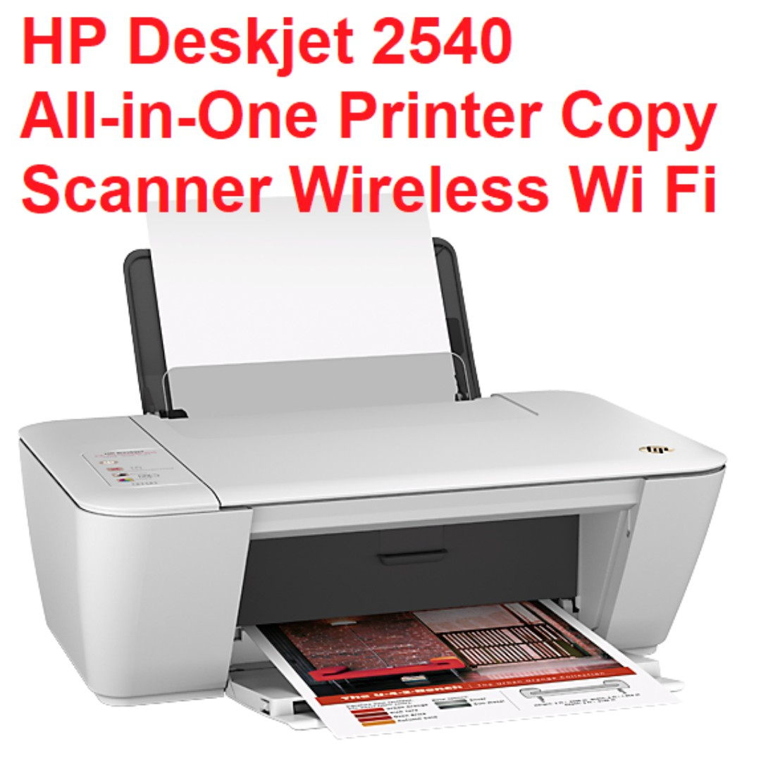 $55, Used, HP Deskjet 2540 color and black and white All-in-One Printer  Copy Scanner Wireless Wi Fi and USB