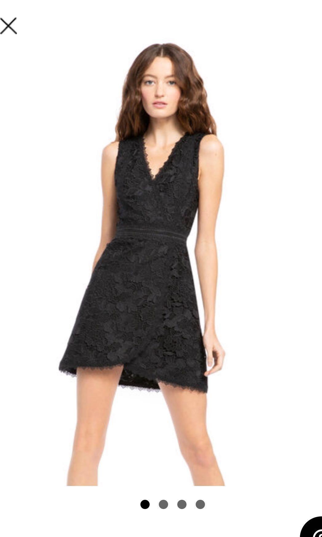 833af782e5 Alice + Olivia black lace dress