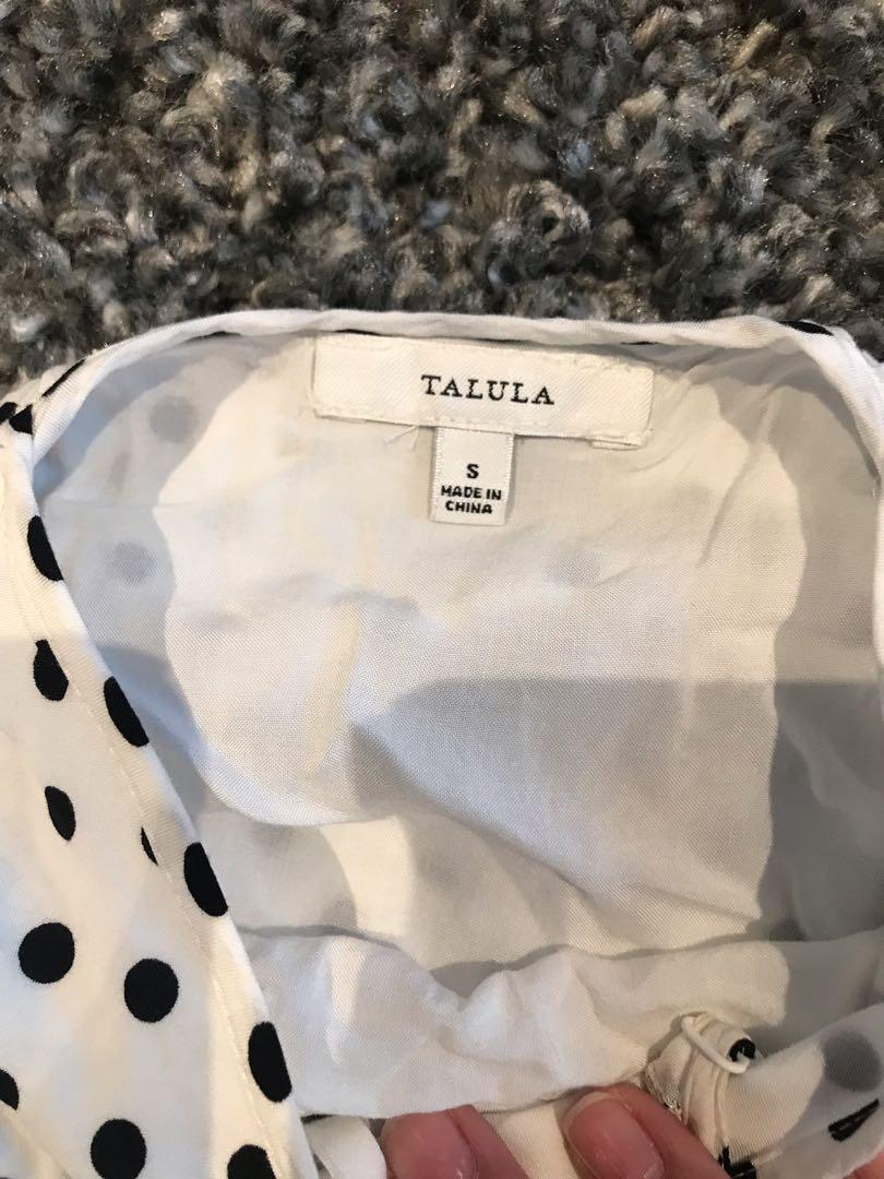 ARITZIA /Talula - Polka Dot DRESS/ Blk&Wht / Size Sm