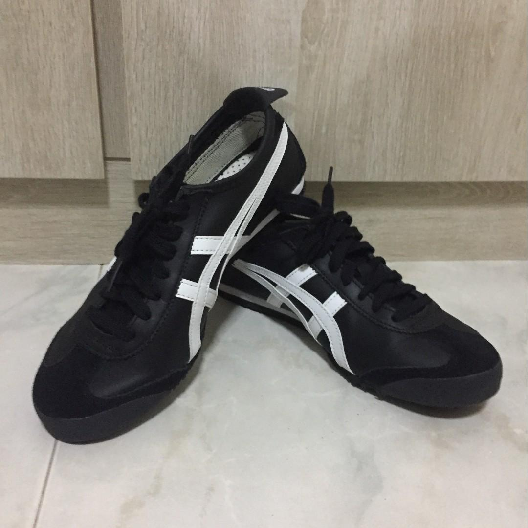 separation shoes 4e3d2 68c63 Authentic) Onitsuka Tiger Mexico 66 Black/White, Men's ...