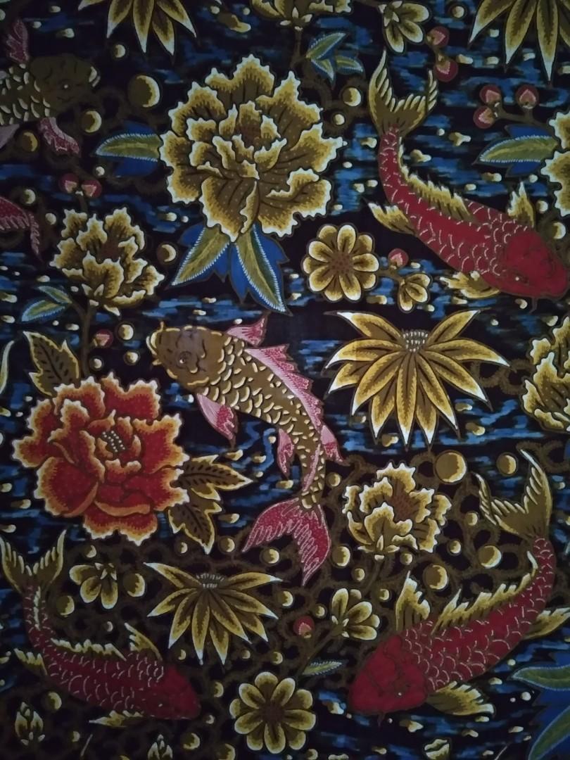 Batik Tulis Motif Ikan Koi - Contoh Motif Batik