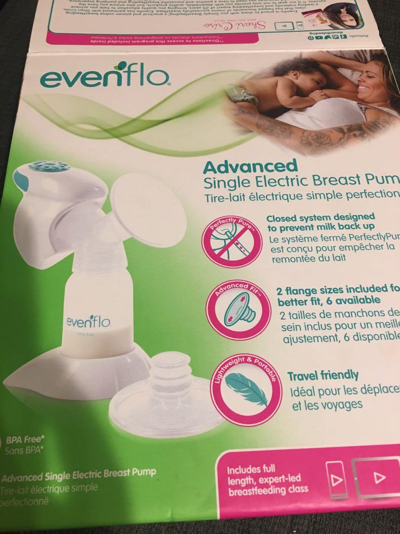 Brand new Evenflo Advanced single electric breast pump