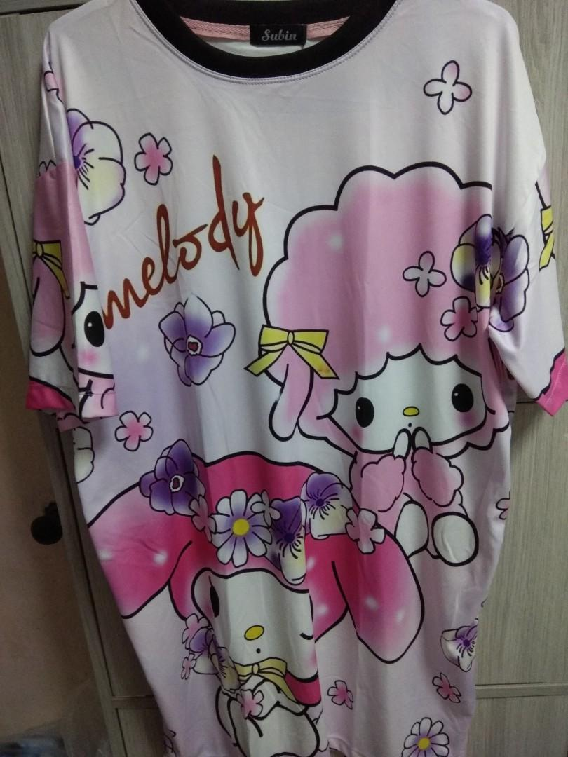 529f666a789  Brand New Premium Plus Size Dri-fit My Melody T-shirt Dress Long Top Free  mailing~ on Carousell