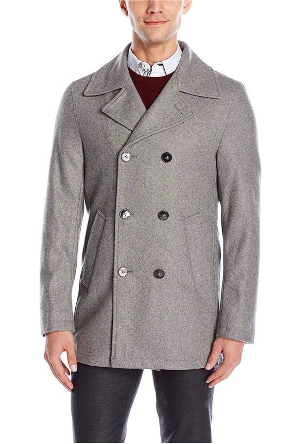 3d8b2607 Calvin Klein pea coat, wool blend, new, US 38S, Men's Fashion ...
