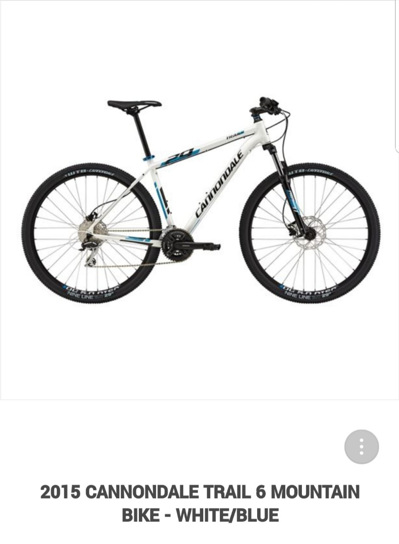 e6e36d2d2c2 Cannondale Trail 6(2015) White/Blue, Bicycles & PMDs, Bicycles ...