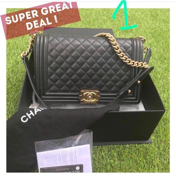 eb388eedf76044 CNY2019 1. 'Chanel boy calf skin seri 20 with receipt original box ...