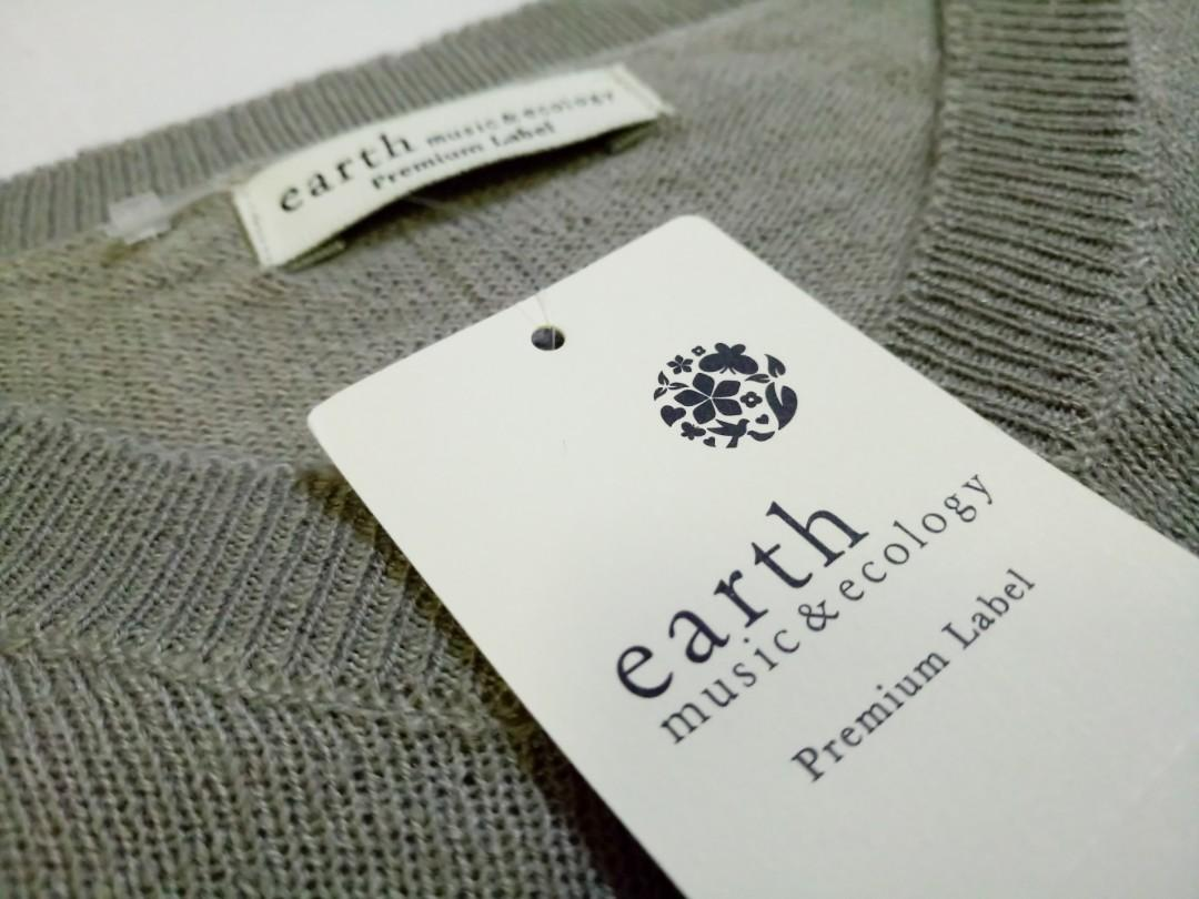 Earth Music & Ecology V-neck Loose Knit Pullover V領鬆身針織冷衫 未剪牌