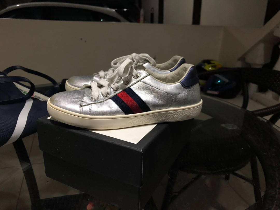 ea499fb06bb Gucci Kids New Ace Sneakers