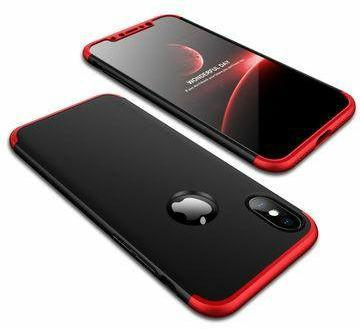 Hardcase Armor 3in1 for Iphone X Black Red