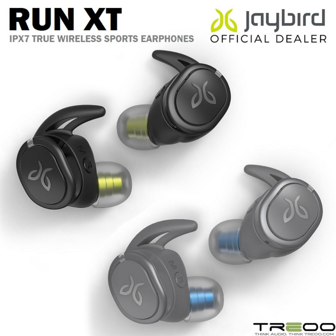 sale retailer cda45 11a35 [PROMO!] Jaybird RUN XT IPX7 Waterproof True Wireless Bluetooth Sports  Earphones with Mic