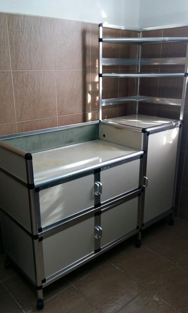 Kabinet Dapur Gas Aluminium Home Furniture Home Decor On Carousell