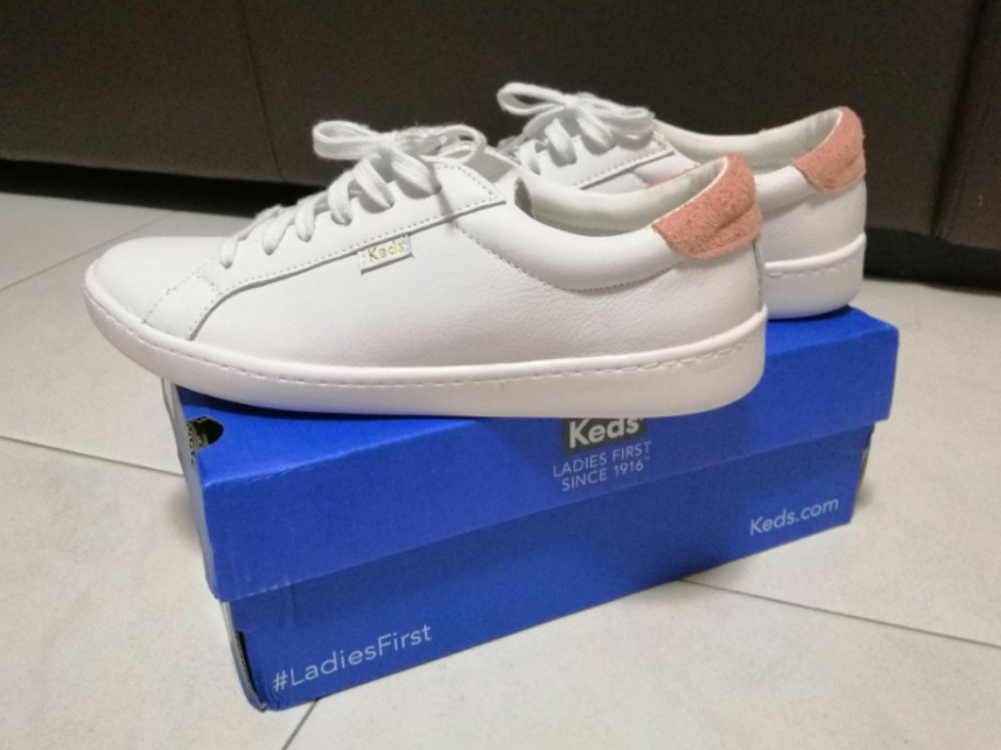Keds Ace Leather Women's Sneakers White