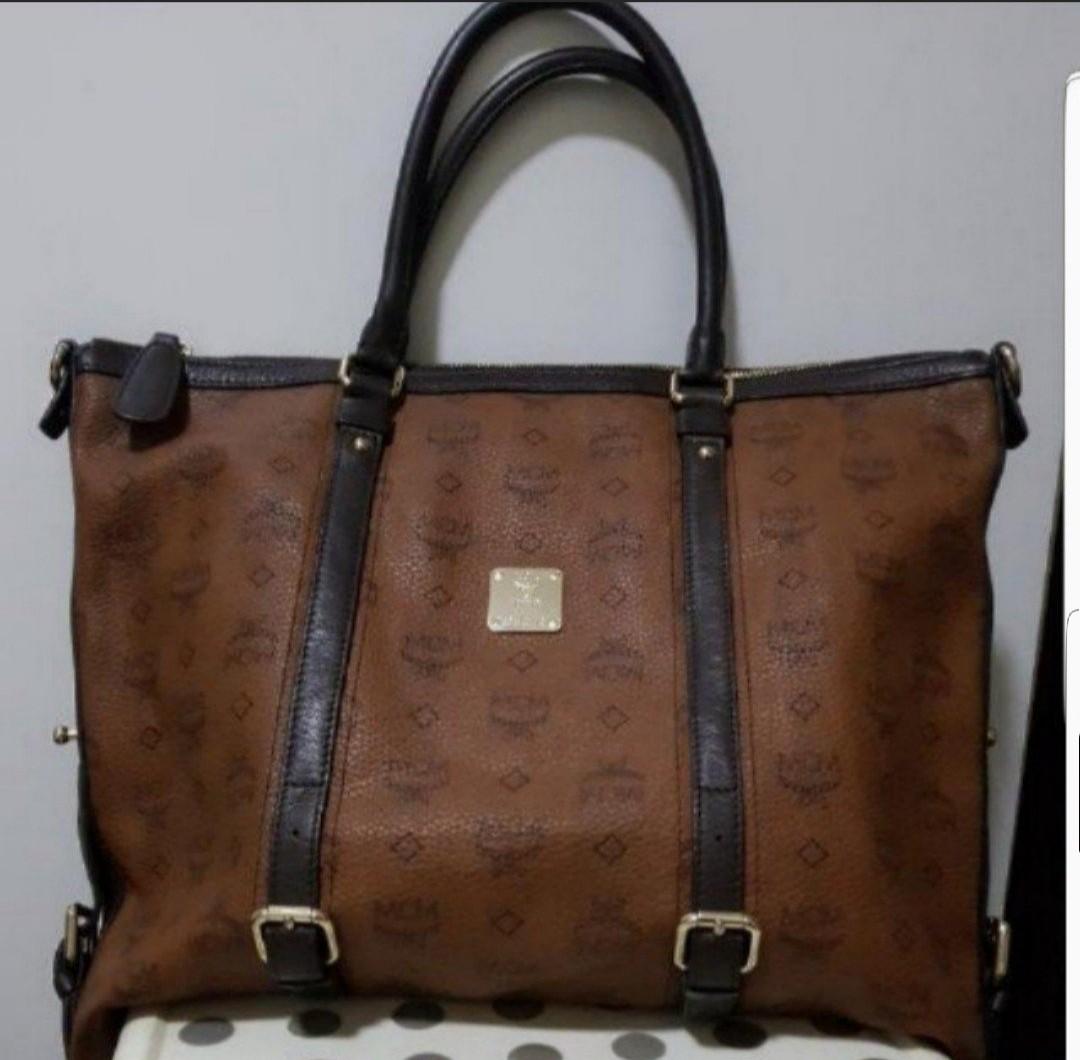 fb58dedbb185 fast deal Mcm tote bag