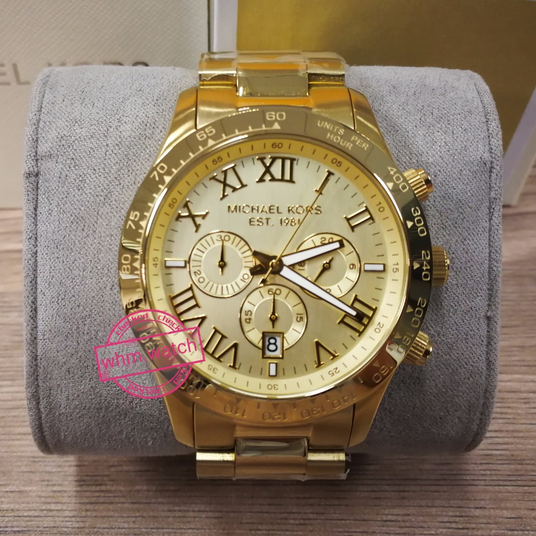 cd97060a3a00 MICHAEL KORS Layton Chronograph Champagne Dial Men s Watch MK8214 ...
