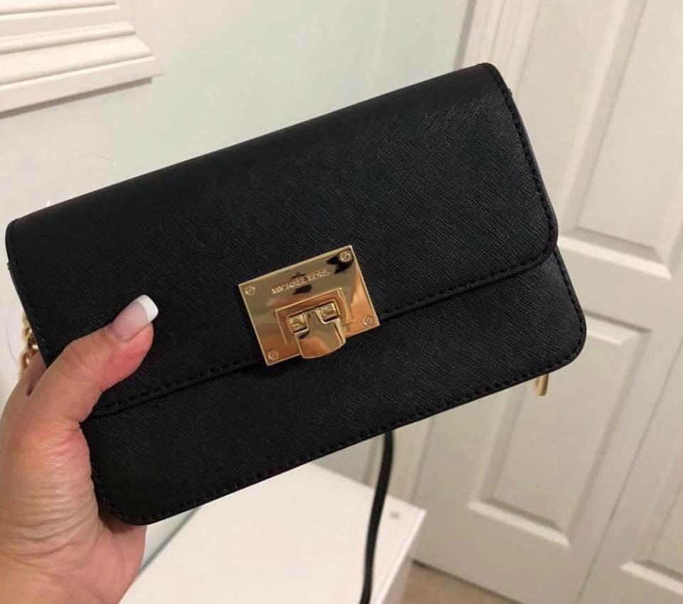 3085b04332ed Michael Kors MK Tina 2 in 1 Sling Bag ( Clutch and Wallet ) on Carousell
