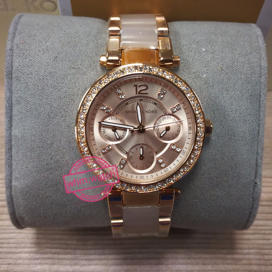 8fe2fb4a2dab9 MICHAEL KORS Parker Mini Multi-Function Rose Dial Rose Gold-tone and ...