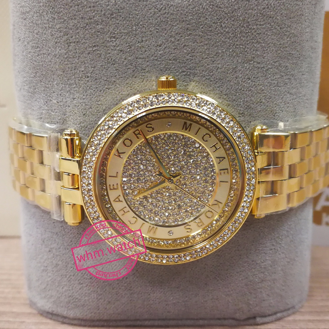 b20be8f86c76 Mini Darci Gold Crystal Pave Dial Ladies Watch Item MK3445