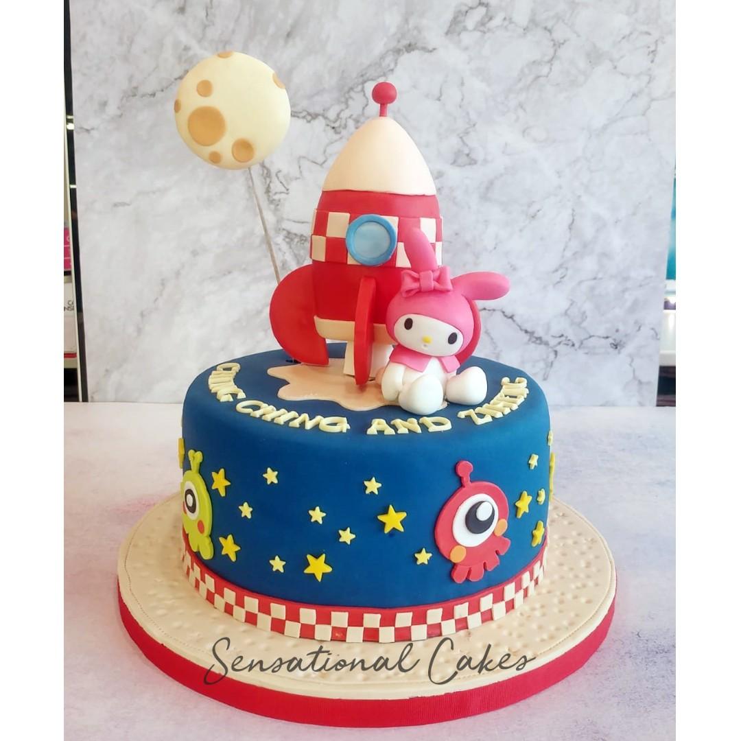 My Melody Space galaxy 3d custom kid birthday cake #singaporecake ...