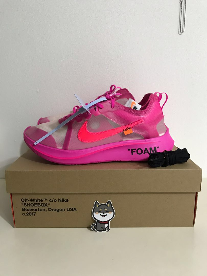 507a30c3202 Nike zoom fly pink off white US11