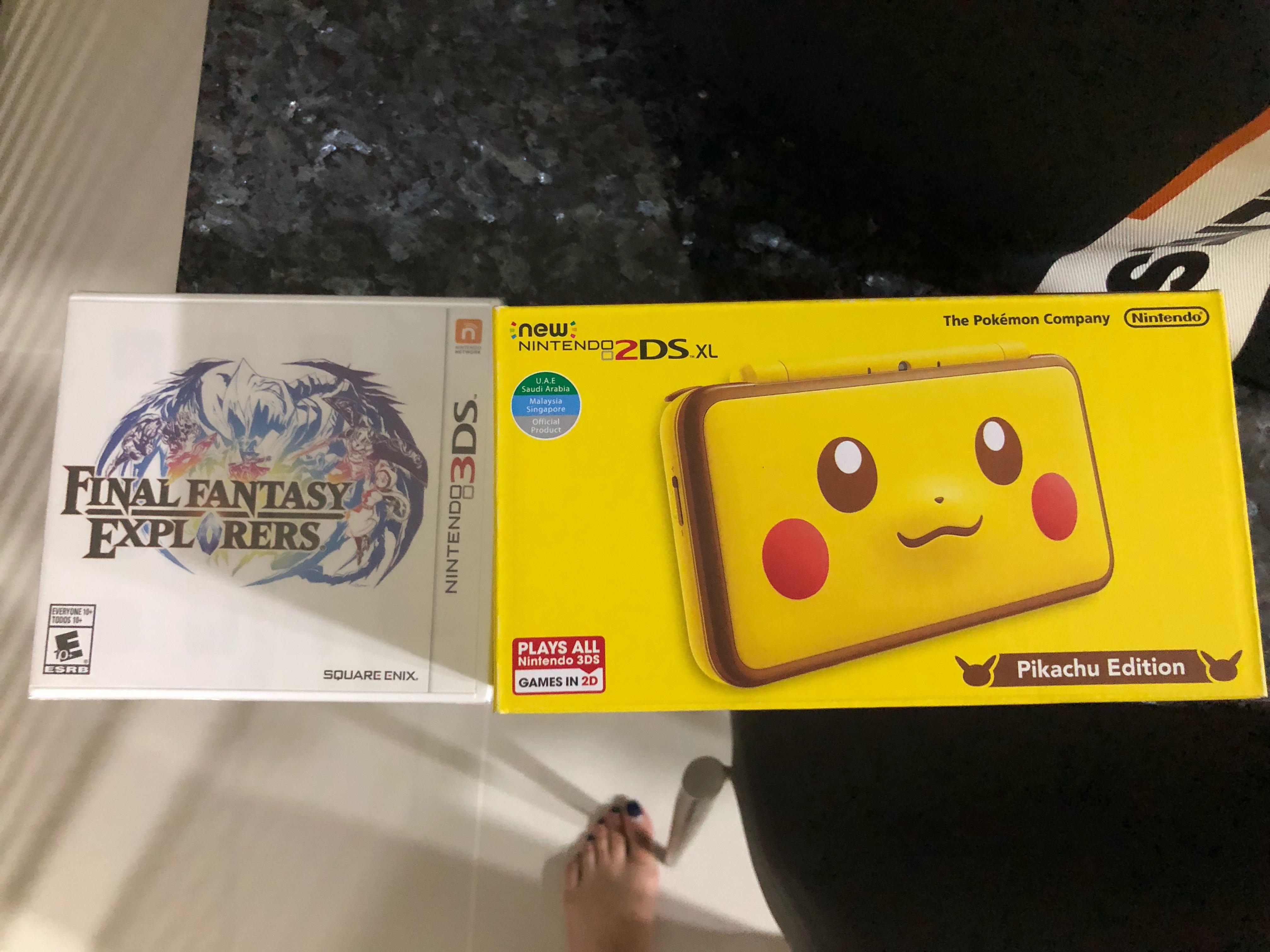 Nintendo 2ds Xl Pikachu Version Toys Games Video Gaming