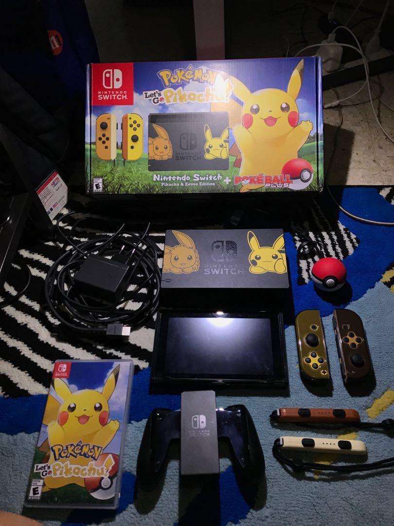 Nintendo Switch Pikachu Eevee Super Edition Pokeball Plus
