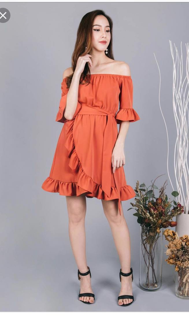 0a24b67791f1 Ohvola Olivia Ruffles Off Shoulder Dress