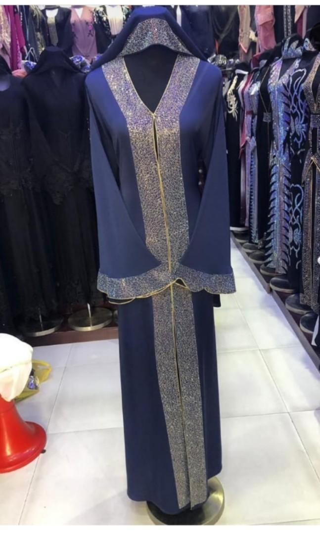 Party wear Dubai Abaya, Women's Fashion, Muslimah Fashion on