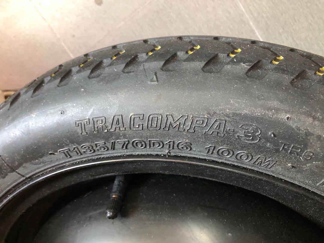 Pcd 5 x 100 donut spare tyre