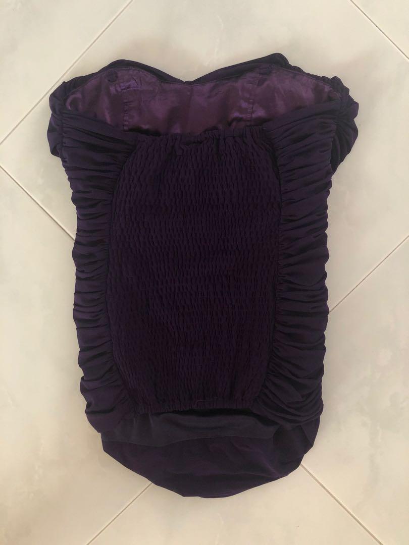 Purple stretchable top