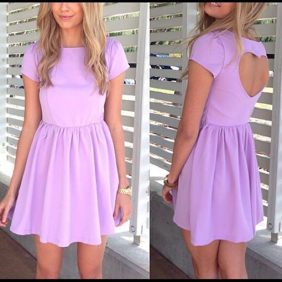 6a8a67bcc5e4 Sabo Skirt Mini Heart Back Dress in Lilac, Women's Fashion, Clothes ...